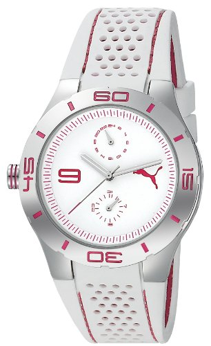 Puma Time Women's Quartz Watch Pit Babe White PU102772001 with Rubber Strap