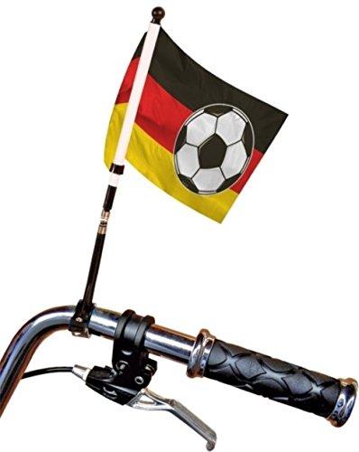 HAAC Flagge Fahnen mit Ball für Fahrrad Deutschland Höhe 30 cm Fußball EM 2016