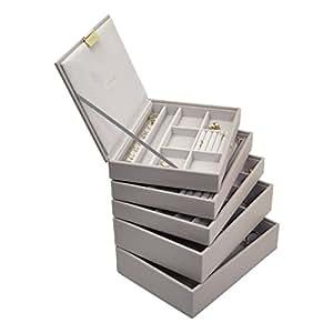 Porta gioielli stacker tortora set di 5 casa - Porta gioielli fatti in casa ...