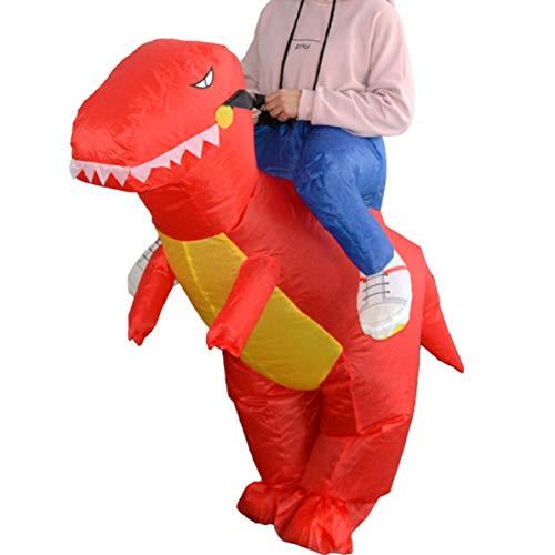 WEIWEITOE Lustige aufblasbare Tier Dinosaurier reiten Kleidung Party Cosplay Blowup kostüm für Kind / Erwachsene / Teenager, rot,