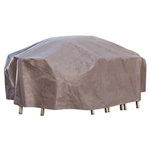 Ente Elite Rechteck/Oval Patio Tisch und Stuhl Set Abdeckung mit aufblasbaren Airbag zu verhindern ansammelt, Beton