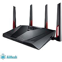 ASUS RT-AC88U - Router Gaming AC3100 Doble Banda Gigabit (triple VLAN, Ai-Mesh soportado, WTFast acelerador de juegos, compatible con DD-WRT y con Ai Mesh wifi)