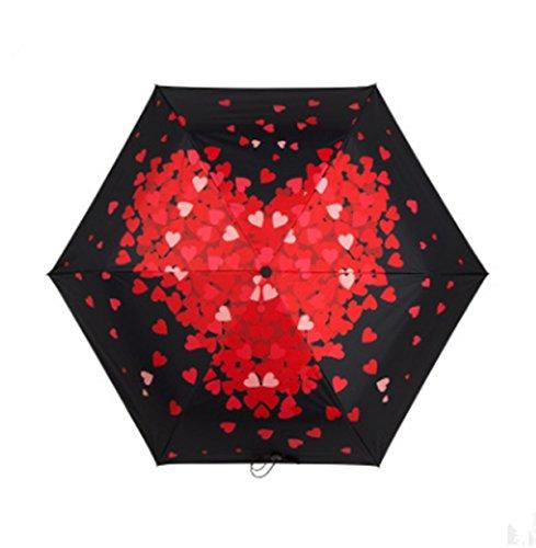 WFYJY-Ultraleicht-super automatische Regenschirm bivalente solar-Schirm Schwarze klebstoff uv-Schutz Sonnenschirm.EIN