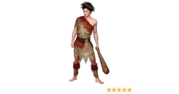 Caveman Dress Up Ideas : Xl mens stone age caveman costume for prehistoric fancy dress mans