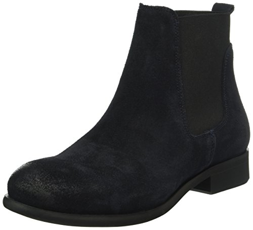 Pieces Psizi Suede Boot Navy Blazer, Bottes Chelsea Femme Bleu (Navy Blazer)