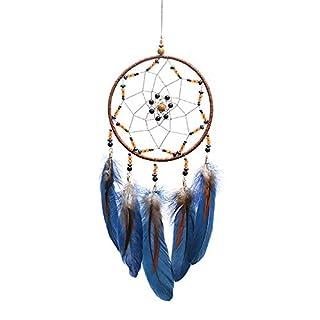 XIYAO Dream Catcher Hanging Ornament- Handmade Crafts Dream Catcher for Home/Car /Bedroom/School/Kids Room Decor - Dream Catcher Blue/White