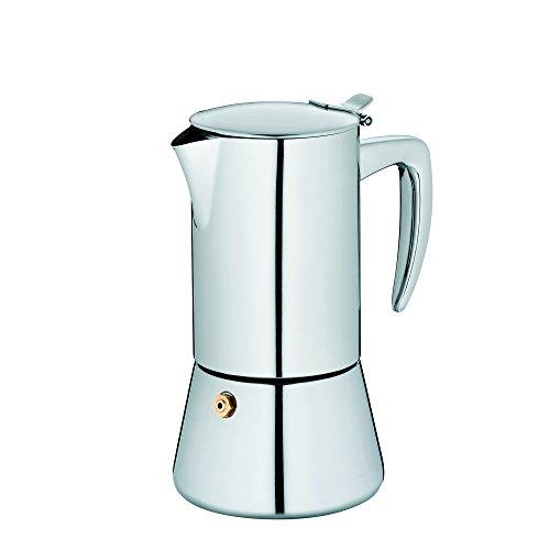 Kela 10835 Latina - Cafetera (acero inoxidable, para inducción, 200 ml, 4 tazas)
