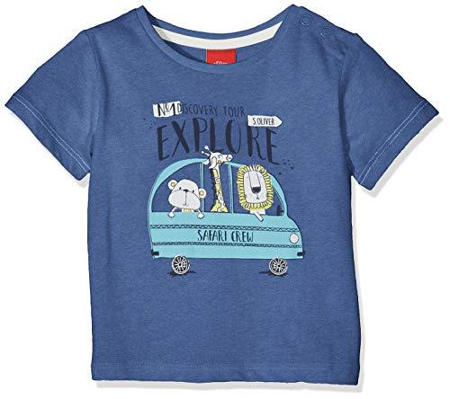 s.Oliver Baby-Jungen 65.904.32.5653 T-Shirt, Blau (Blue Melange 55w0), Herstellergröße: 86