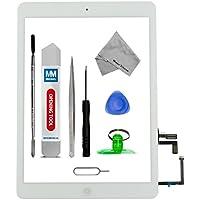 Assemblaggio digitizer schermo tattile display di vetro-Incl Pulsante home + flex + Supporto camera per IPAD AIR Bianco