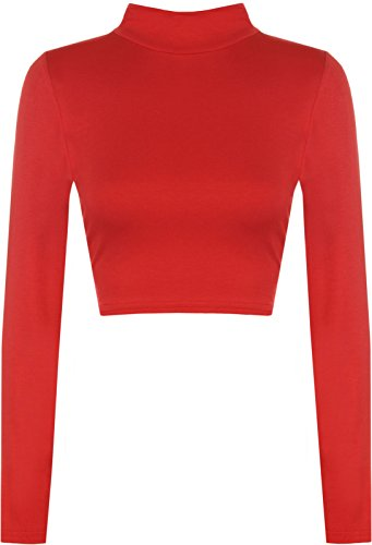 PRETTY AND PARTY Maglia a Manica Lunga - Top - Maniche Lunghe - Donna Red