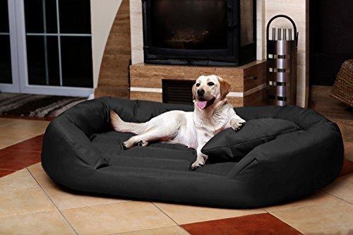 TIERLANDO® S5-40 Sammy Extra ROBUST Hundesofa Hundebett Gr. XXL 140 cm Anthrazit