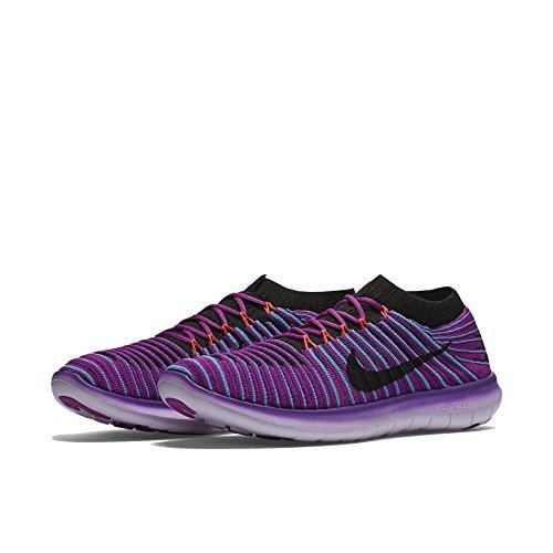 Nike W Free Rn Motion Flyknit, Scarpe da Corsa Donna Blu (Hypr Vlt / Blk-Gmm Bl-Ttl Crmsn)