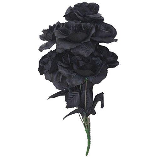 PARTY DISCOUNT Strauß Rosen, schwarz, 38 - Strauß Kostüm Paar