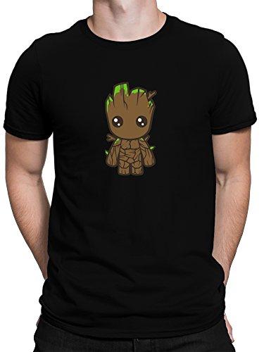 vanVerden Herren Fun T-Shirt Süßer Comic Baby Baum Plus Geschenkkarte, Größe:5XL, Farbe:Schwarz (Shirt Baum)