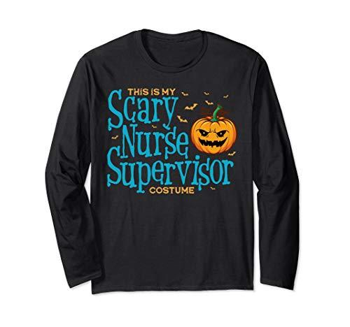 Dies ist Scary Nurse Supervisor Kostüm Halloween Langarmshirt (Kostüm Supervisor)