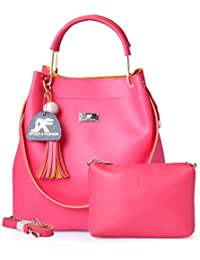 Speed X Fashion Women's Handbag With Sling Bag Combo (S00YTN-Pink)
