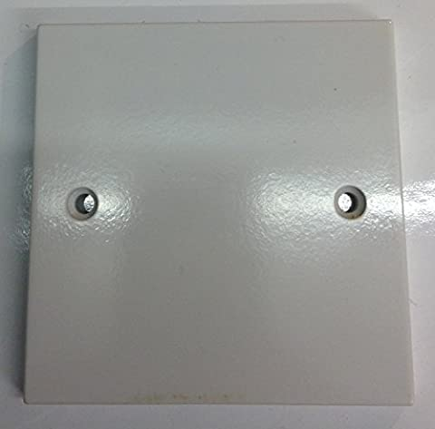 FLAT LINE SERIES 1 GANG WHITE BLANKING PLATE BS5733