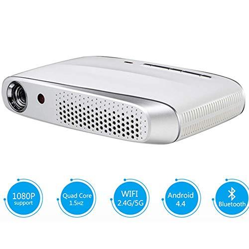 Mengen88 DLP Mini 3D Video Projektor, 600ANSI Lumens Android WiFi Projektor Active Shutter Support Full HD 1080P LED Beamer, für Home Cinema Entertainment Games Outdoor Parties