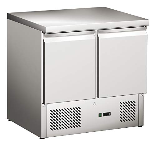 Tavolo refrigerante con 2 ante, tavolo per pizza, tavolo da lavoro, frigorifero, tavolo da preparazione, commercio, gastronomia