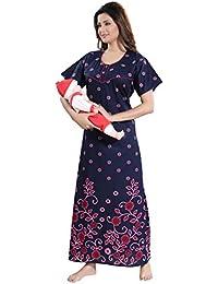 c2b8abca41 TUFAB Women s Cotton Printed Feeding Maternity Nursing Nighty V Pattern