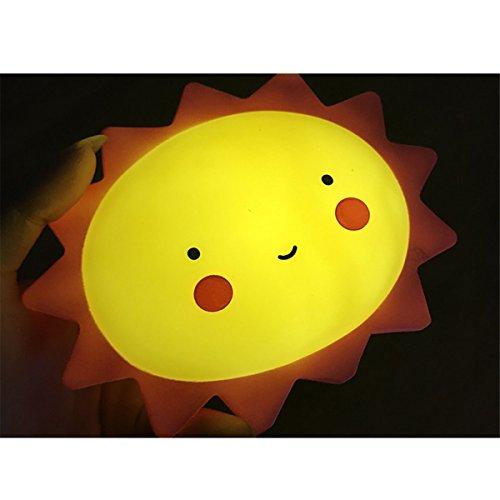 IHRKleid® LED Motiv Sonne Sonnenlicht Nachttisch Lampe für Kinder und Babys,LampeNachtlampe/Kinderlampe/Nachtlicht/Wandleuchte für Schlafzimmer - Batterie