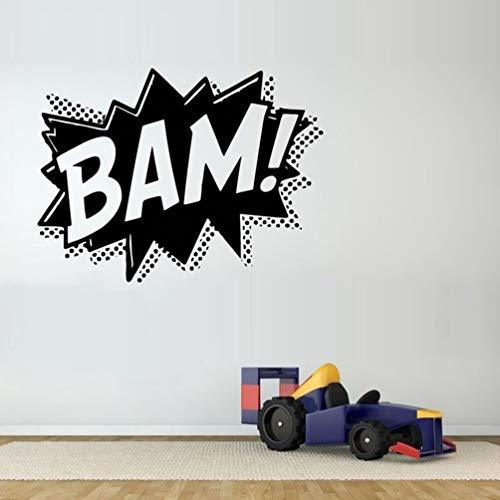Wandtattoo Kinderzimmer Comics Word Language Bam Letters For Living Room Nursery Boys Bedroom Art Murals for boy bedroom -
