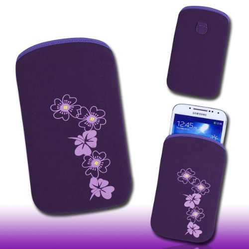 Handy Tasche lila/violett E2-2 für HTC Incredible S / ChaCha / Radar / Salsa / Desire S / Desire / Desire Z / Gratia / HTC 7 Mozart / Trophy / HD Mini / Rhyme / Explorer / HTC 7 Pro