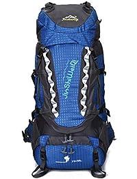 Jiuyizhe Senderismo Mochila de Viaje Mochila de Viaje Impermeable con Cubierta de Lluvia para Camping montañismo