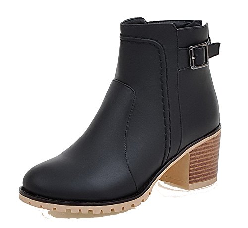 Noir Pointu Femme Bottes Fermeture Ageemi Zip Shoes À Dorteil fwdqC7f