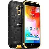 Ulefone Armor X7 (2020), Android 10 Outdoor Smartphone Ohne Vertrag, Quad-Core 2GB+16GB, IP68 Robustes Handy 13 MP Unterwasserfotografie, 4000mAh Akku, NFC/GPS/DUAL SIM/Gesichts Entsperrung Orange