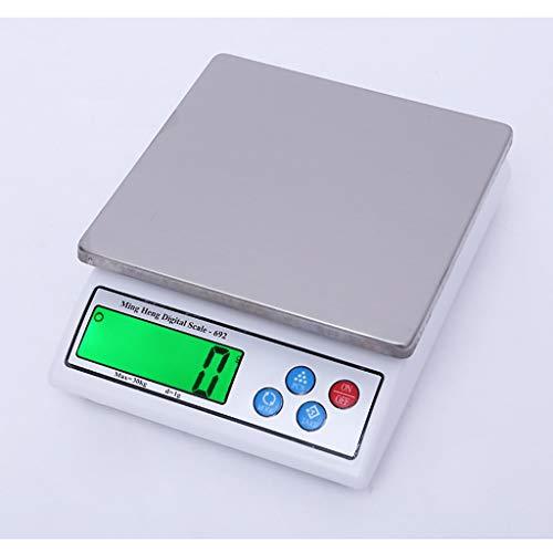ZNND Digital-Küchen-Skalen, Hochpräzise Elektronische LCD-Anzeigen-Batterien Betrieben Haushalts-Nahrungsmittelskalen, Die Medizin 1g Backen (Kapazität : 15kg/0.5g)