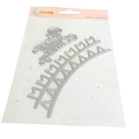 Igemy 1 PCS Neue Blume Herz Metall schneiden Schablonen DIY Scrapbooking Album Papier Karte Handwerk (A)