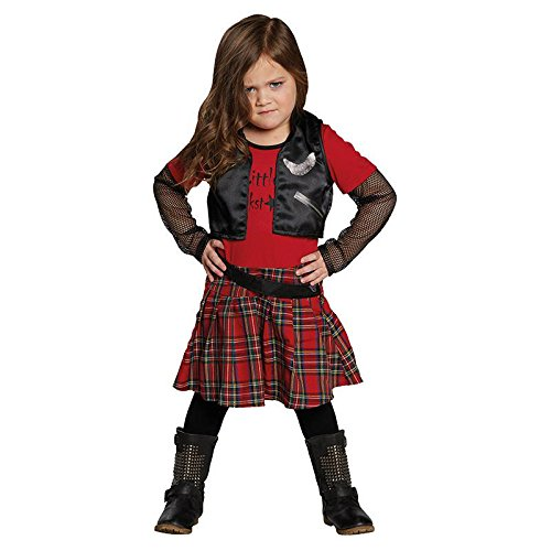 Punk Girl Gr. 128 Fasching Karneval Kostüm Halloween Party Verkleiden