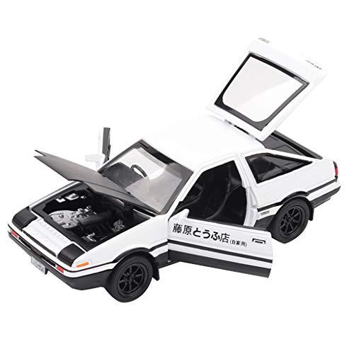Jamicy® 1/32 Toyota Sprinter Trueno AE86, Legierung Auto Spielzeug Dekoration Spielzeug Auto-Modell für Kinder (Schwarz Weiß)