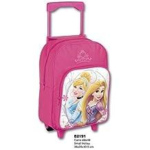 MGI Mochila con Ruedas de Las Princesas Disney, Rapunzel y la Cenicienta. Mochila Escolar