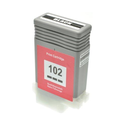 Preisvergleich Produktbild Tintenpatrone PFI-102 für Canon Imageprograf IPF 500 5100 600 6000 605 610 650 655 700 710 750 755 760 765 S L MFP M 40 - 0895B001 - Schwarz 130 ml