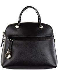Furla bolso de mano para compras en piel mujer nuevo negro