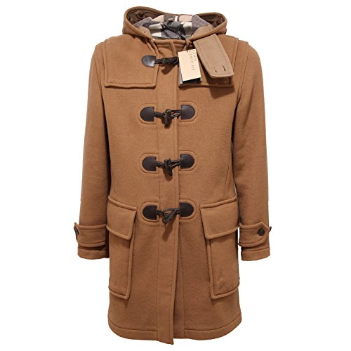 5890Q montgomery uomo BURBERRY BRIT camel check lana jacket men [XS]