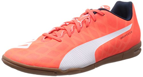 Puma evoSPEED 5.4 IT Herren Fußballschuhe, Orange (lava blast-white-total eclipse 01), 42 EU (8 Herren UK)
