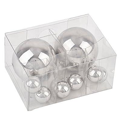 Kugel Ball Deko 8er Set Edelstahl 2-5cm silber poliert Gartendeko Objekt von Dadeldo auf Du und dein Garten