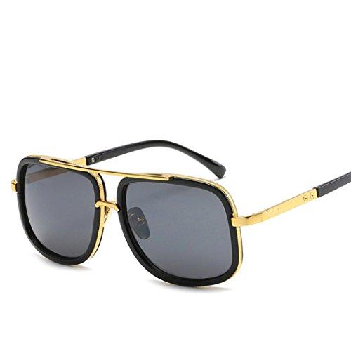 Unisex Sonnenbrille Sommer Btruely Frauen Männer Moderne Modische Spiegel Polarisierte Metallrahmen Sonnenbrille Brille Damensonnenbrille Herrensonnenbrille Männer Frauen Fahrbrille 2018 Neue Mode Klassische Sportbrille Vintage Polarisierte Sonnenbrille (A) (Herren-mode-runde Brille)