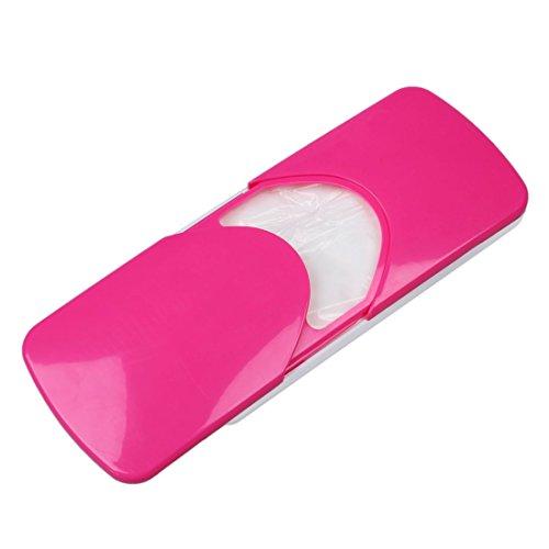 Preisvergleich Produktbild Papierserviette Box - TOOGOO(R)Auto Zubehoer Auto Sonnenblende Auto Papiertaschentuch Box Deckelhalter Papierserviette Box (rot)