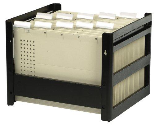 ELBA 100552053 Hängeregistraturkorb go fix 1 Stück Aus PS-Kunststoff ohne Inhalt für ca. 30 DIN A4 Hängemappen schwarz