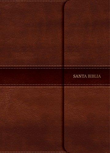 Rvr 1960 Biblia Compacta Letra Grande Marrón, Símil Piel Con Solapa Con Imán (Rvr Biblia 1960)