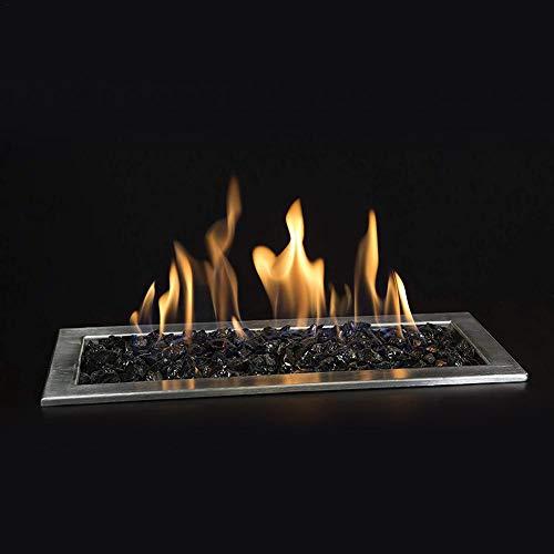 Furnace Fire Pit Piedras de Vidrio, Alto Brillo con Revestimiento de Espejo...