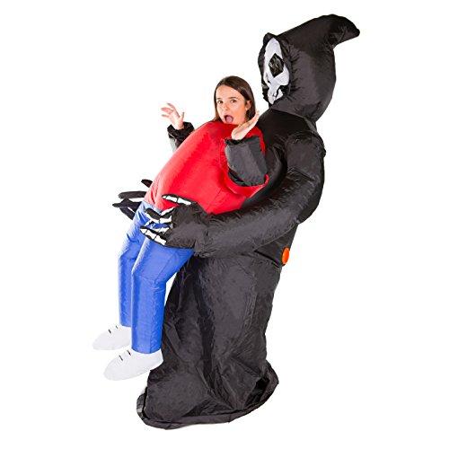 Aufblasbares Sensenmann Halloween kostüm für Erwachsene (Sensenmann Kostüme Für Erwachsene)