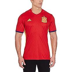 adidas Fef H Jsy Camiseta, Hombre, Rojo/Amarillo/Azul, L