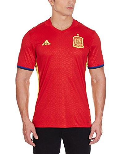 adidas Herren Trikot Uefa Euro 2016 Spanien Heim Replica, Scarlet/Bright Yellow, S, AI4411