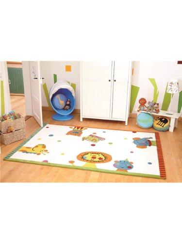 Sigikid Teppiche: Kinderzimmer Kinderteppich Animal Festival Beige 133x200 cm - Oeko-Tex Standard 100-Siegel - 100% Polypropylen - Tiermotive - Maschinengewebt - Kinderzimmer -