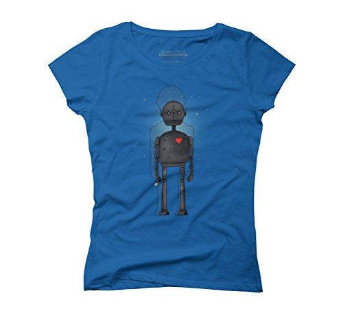 Robot Women's Graphic T-Shirt - Design By Humans Royal Blue